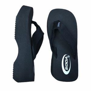 SODA Jaja Black Flip Flop Sandals